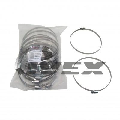 """Хомут нерж. """"EuroEx"""" EX-GTC 130-150/9W2  (уп-25шт)"""